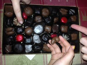 The great mystery of a box of chocolates - in the eyes of a child (or 3)