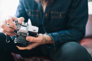 pensive photographer