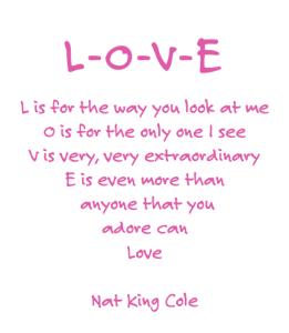 L-O-V-E Nat King Cole