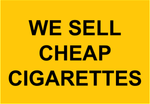 We Sell Cheap Cigarettes