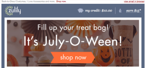 July-O-Ween and Back To Ghoul Zulily