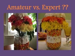 Amatuer vs expert floral
