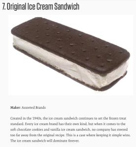 "Assorted Brands ""Original Ice Cream Sandwich"""