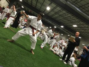 It was up to him to get his Jr. Black Belt...He decided to get a 1st Degree, too.