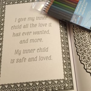 Coloring books to bring out your inner child.